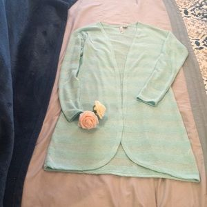 Sweaters - Mint colored ladies long cardigan